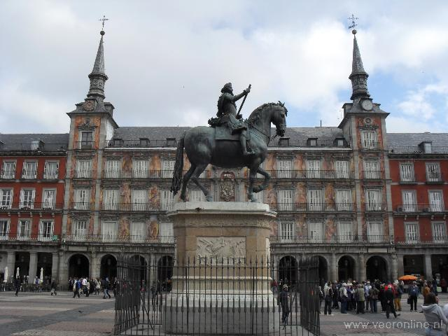 De Plaza Mayor in Madrid